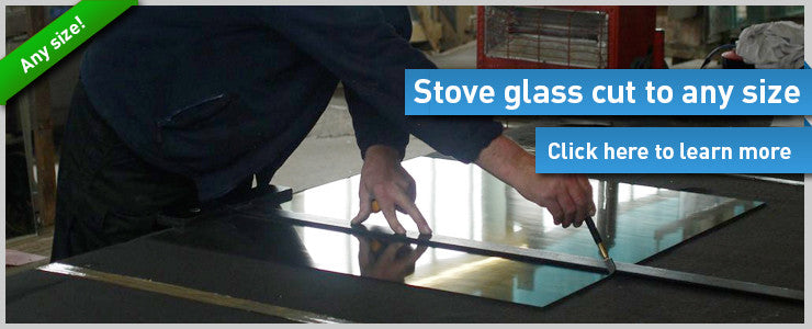 stove glass cut to size