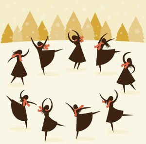 The 12 days of Christmas.......Day 9 Dancing all the way!