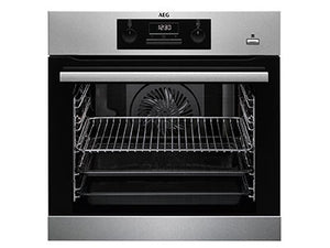 AEG BES351210M single oven with Steam Bake, built in.