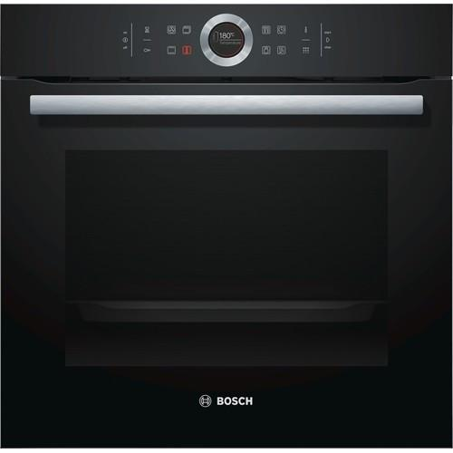 BOSCH HBG674BB1B SINGLE BUILT-IN OVEN WITH PYROLYTIC CLEANING, BLACK FASCIA