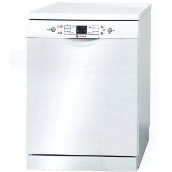Bosch Dishwasher SMS40T52GB, freestanding, white.