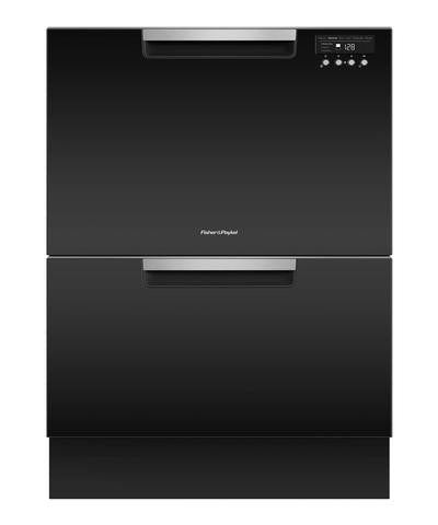 FISHER & PAYKEL DD60DCHB9  CLASSIC GLOSS BLACK Double DishDrawer