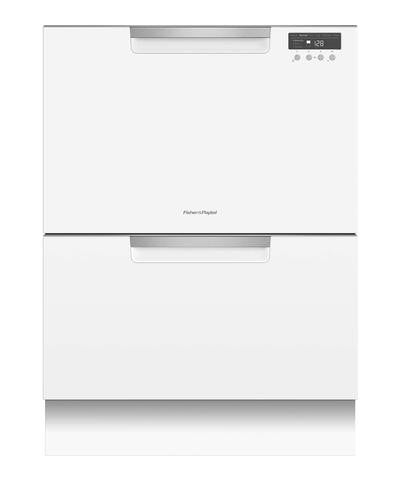FISHER & PAYKEL DD60DCHW9  CLASSIC GLOSS WHITE Double DishDrawer