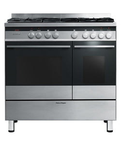 FISHER & PAYKEL OR90LDBGFX3 90cm Freestanding Dual Fuel Cooker