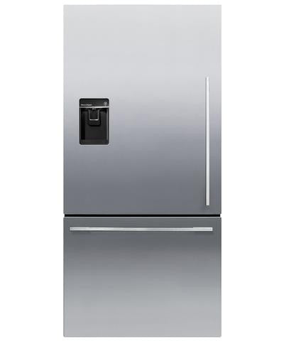 FISHER & PAYKEL RF522WDLUX4 ActiveSmart™ Fridge Freezer 79cm wide with Ice & Water 445L