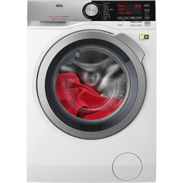 AEG L8FEC846R WASHING MACHINE, white