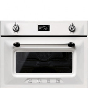 Smeg SF4920MCB 45cm White compact combination microwave oven