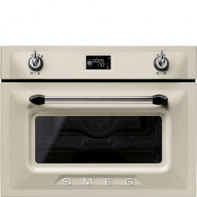 Smeg SF4920MCP 45cm Cream compact combination microwave oven