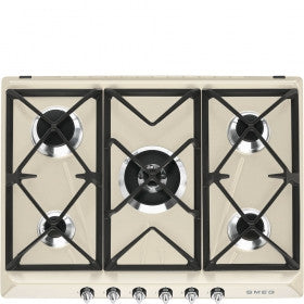 Smeg SR975PGH 70cm Cream gas hob with 5 burners