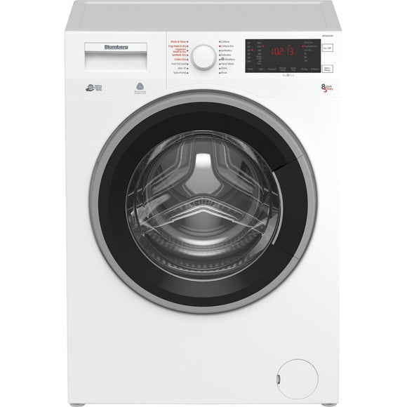 Blomberg LRF285411W Washer Dryer, freestanding, white.