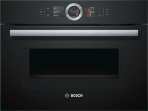 Bosch CMG656BB6B Compact combi microwave, built in, Black