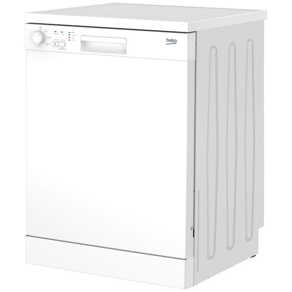 Beko DFN04C11W dishwasher, freestanding, white.