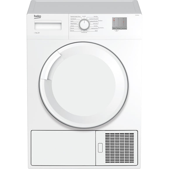 Beko DTGC8001W condenser dryer, freestanding, white