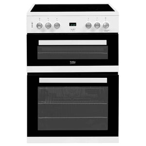 Beko EDC633W 60CM ELECTRIC COOKER, DOUBLE OVEN, FREESTANDING, WHITE.