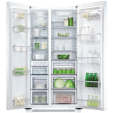 Fisher & Paykel RX628DW1  Non Ice & Water side by side style fridge freezer, White.