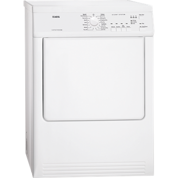 AEG T65170AV vented tumble dryer, Freestanding, white.
