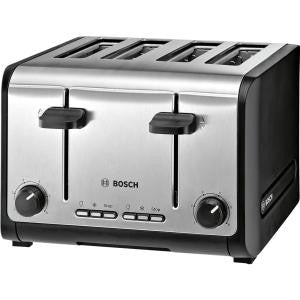 Bosch 4 slice toaster TAT6A643GB, Stainless Steel.