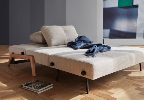 Image of innovation slaapbank cubed 160 zand kleurig bed