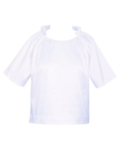 SS16 Estelle Top Crop White