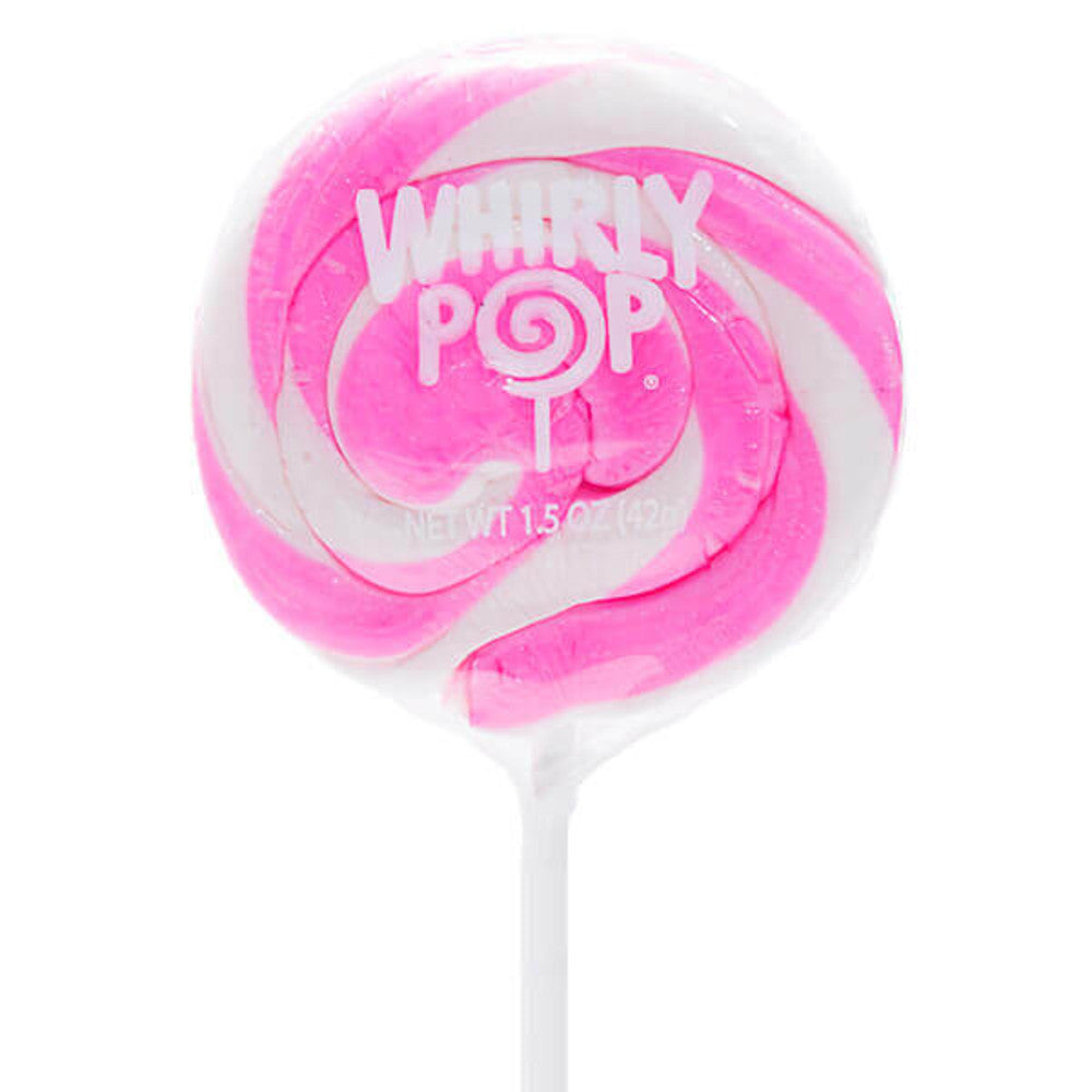 Whirly Pop 1.5-Ounce Swirl Suckers - Light Pink