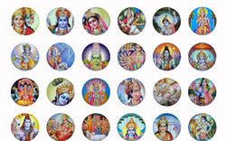 Indian Gods ball style edible image lollipops