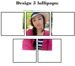 Customize your own square style edible image lollipop