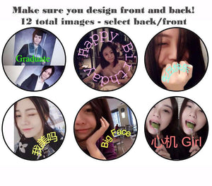 DOUBLE SIDED 2D ball style edible image lollipop
