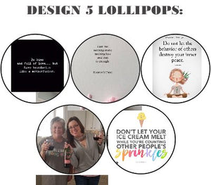 "Customize your own 2"" flat style edible image lollipop"