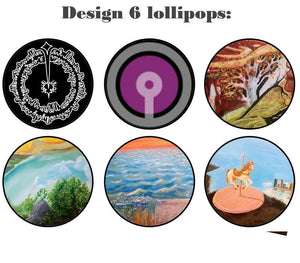 Customize your own 2D ball style edible image lollipop