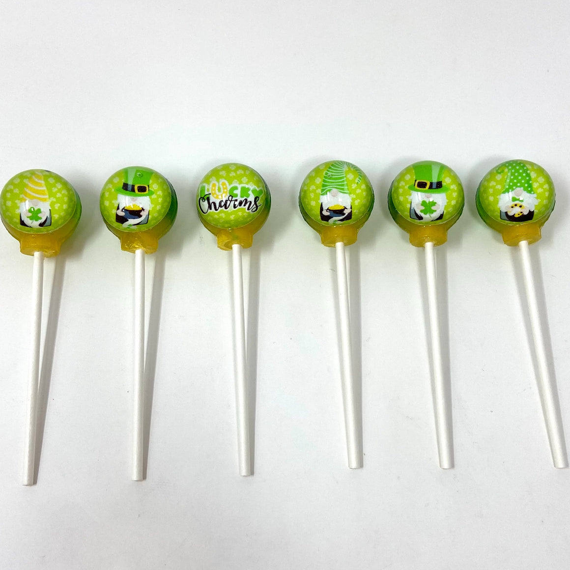 St. Patrick's Gnomes set of 6 lollipops by I Want Candy!