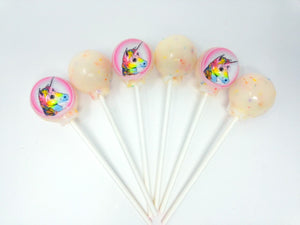 Unicorn lollipops by I Want Candy!