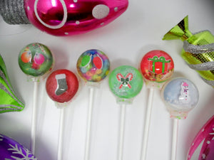 3D Snow Globe lollipops by I Want Candy!