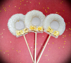 24K Gold Christmas wreaths and candy canes 5 pc set