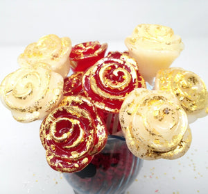 24K Gold roses 6pc set by I Want Candy!