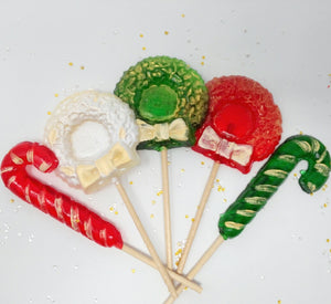 6pc Christmas Wreaths & Candy Canes by I Want Candy!