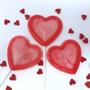 "3"" Outline Heart Lollipop 6pc set"