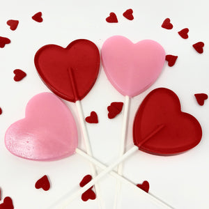 2 1/2 in Heart Lollipop set of 4pc