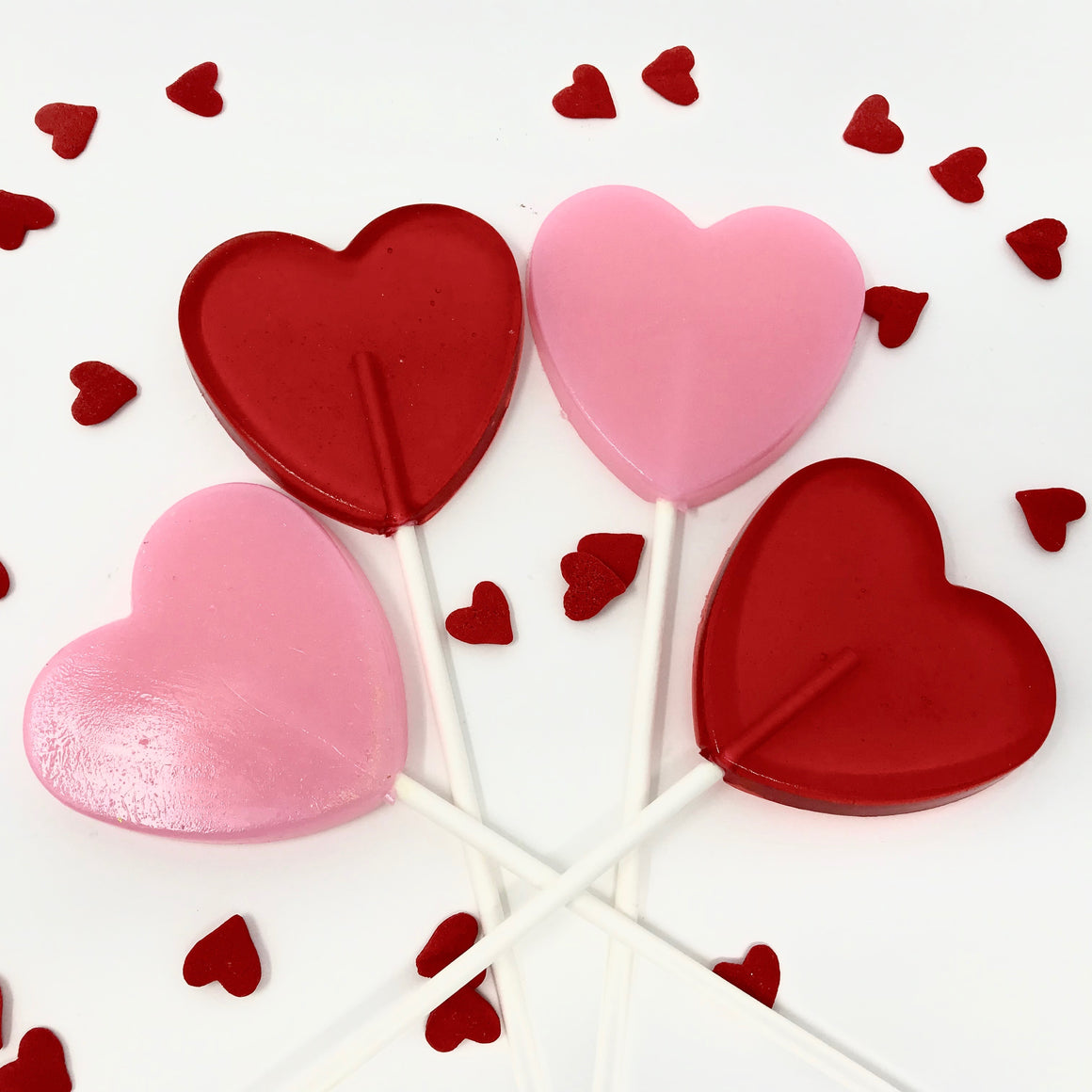 2 1/2 in Heart Lollipop set of 6pc
