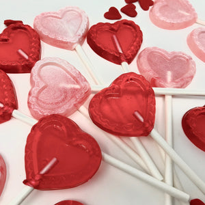 1.5 in Small Heart shaped lollipops (7pc sets)