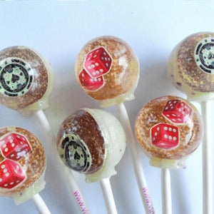 3D Las Vegas dice and poker chips lollipops by I Want Candy!