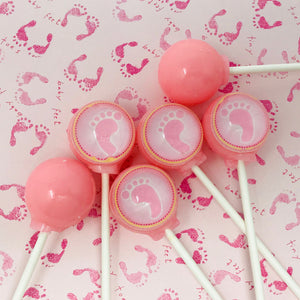 Baby Footprint lollipops by I Want Candy!