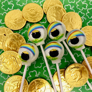 3D Pot of Gold, edible image lollipop by I Want Candy!