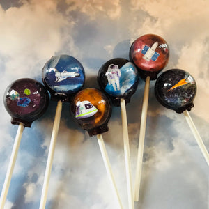 3D Lost in space lollipops by I Want Candy!