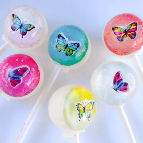 3D butterflies lollipops by Vintage Confections