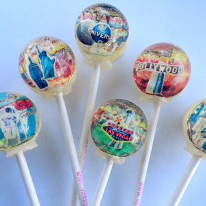 Popular cities 3D lollipops by Vintage Confections