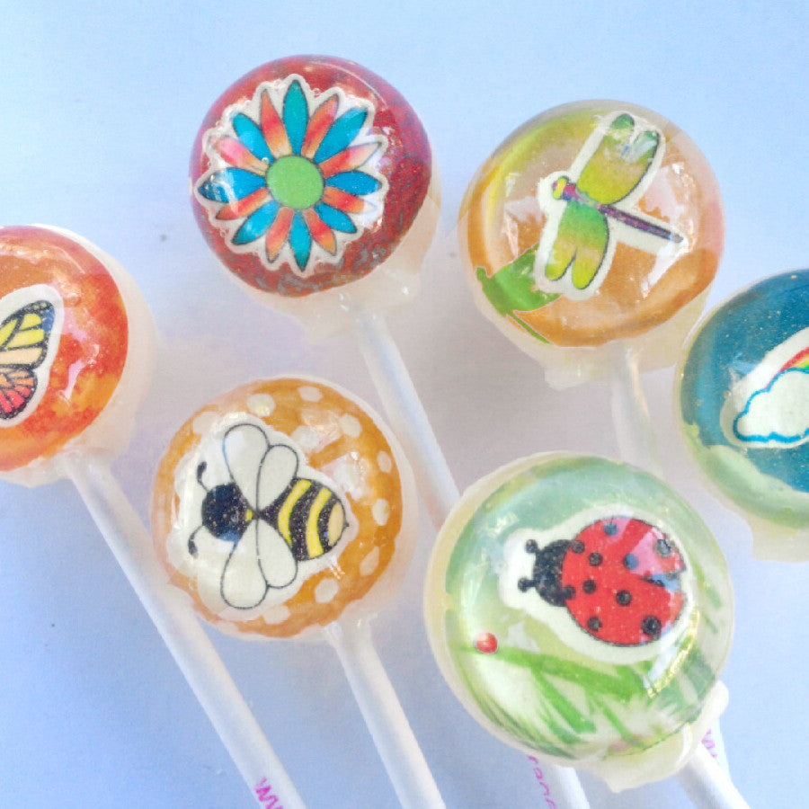 3D First day of spring lollipops by I Want Candy!