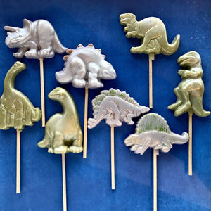 Dinosaur shaped lollipops by I Want Candy! (6pc)