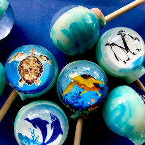 6pc Zoo Aquatic lollipops By I Want Candy!
