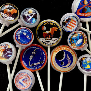 Apollo Missions edible image lollipops By I Want Candy