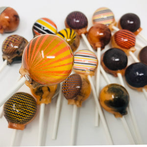 Halloween Patterns edible art lollipops by I Want Candy!